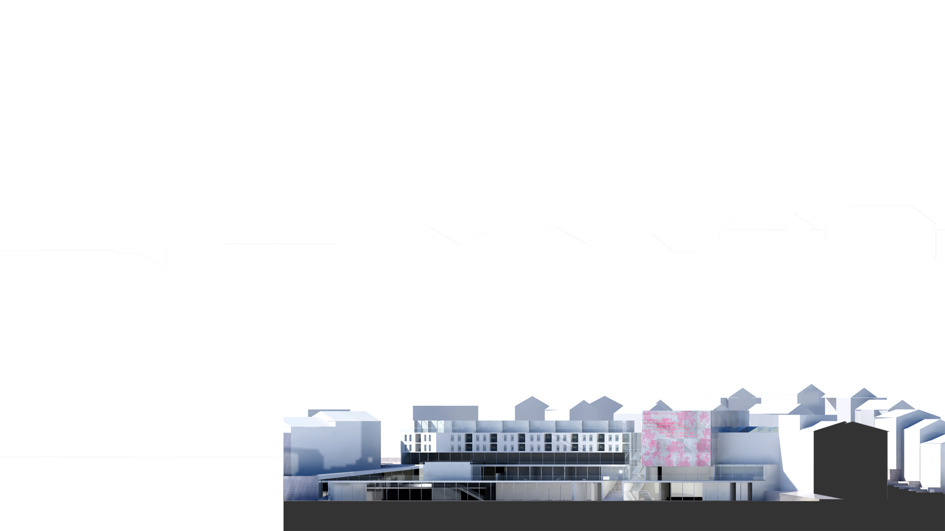 Context section of showing the new Molde Theatre & Jazzhouse inserted into the townscape