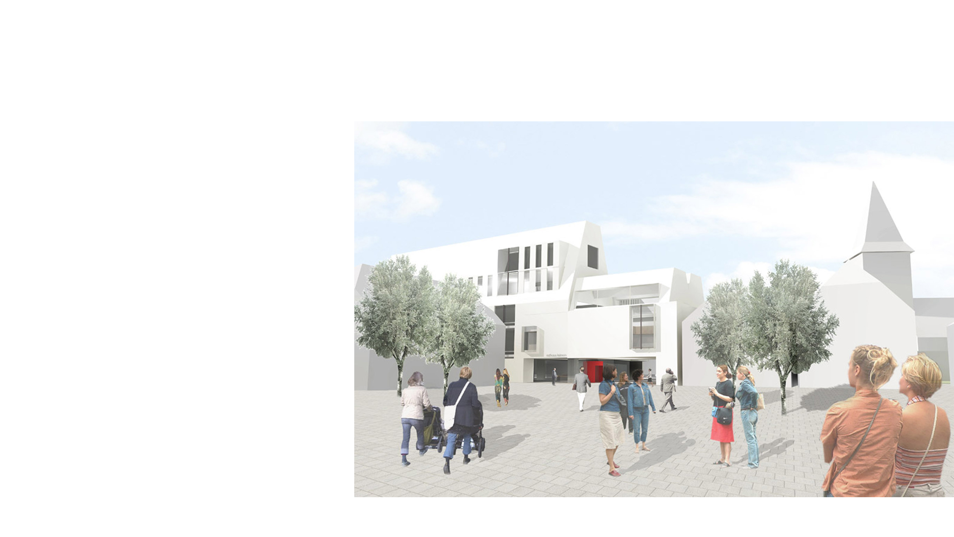 3D composite rendering of the Neubau Rathaus Stadt Leimen Germany