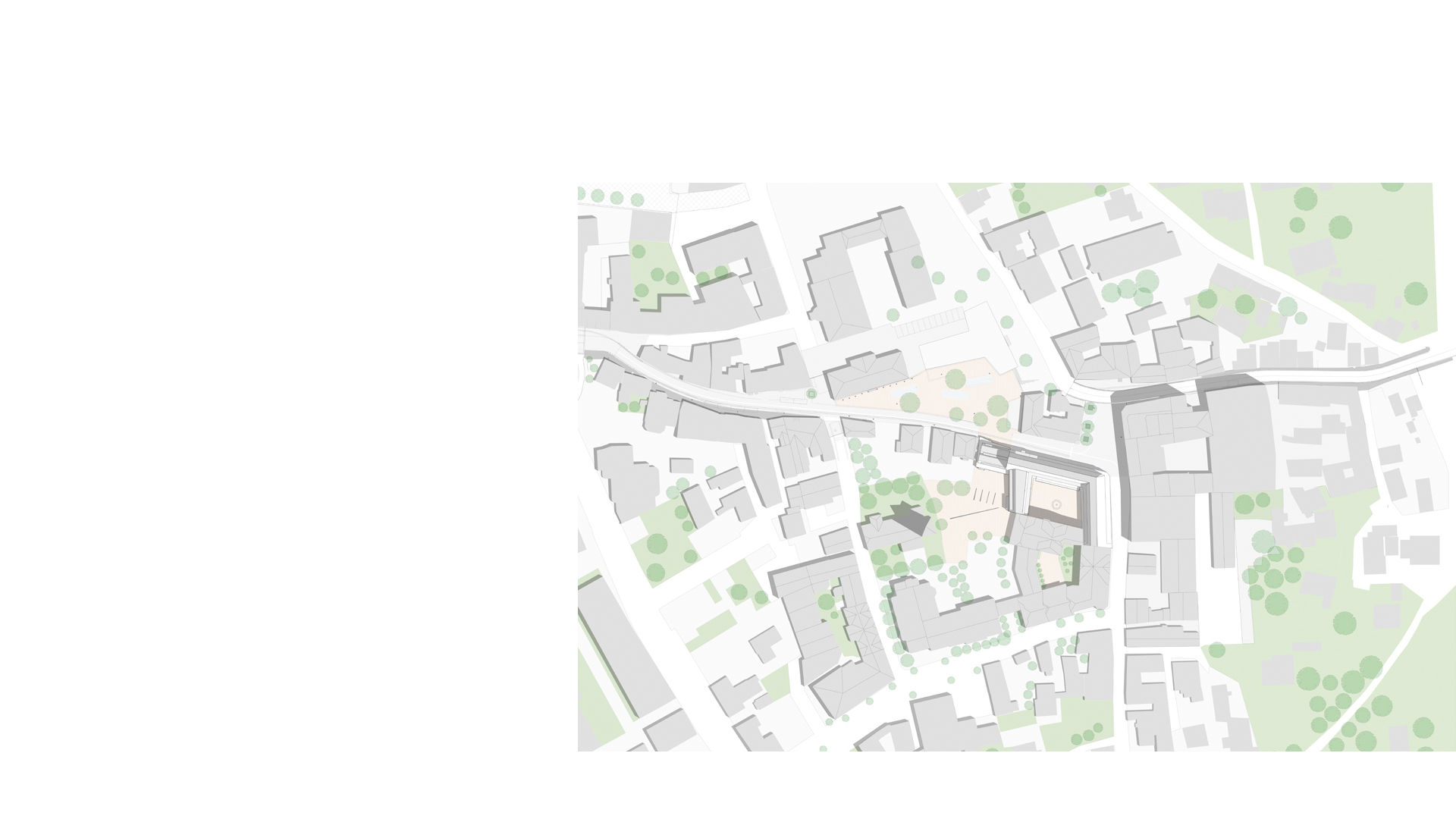 Context plan of the Neubau Rathaus Stadt Leimen Germany
