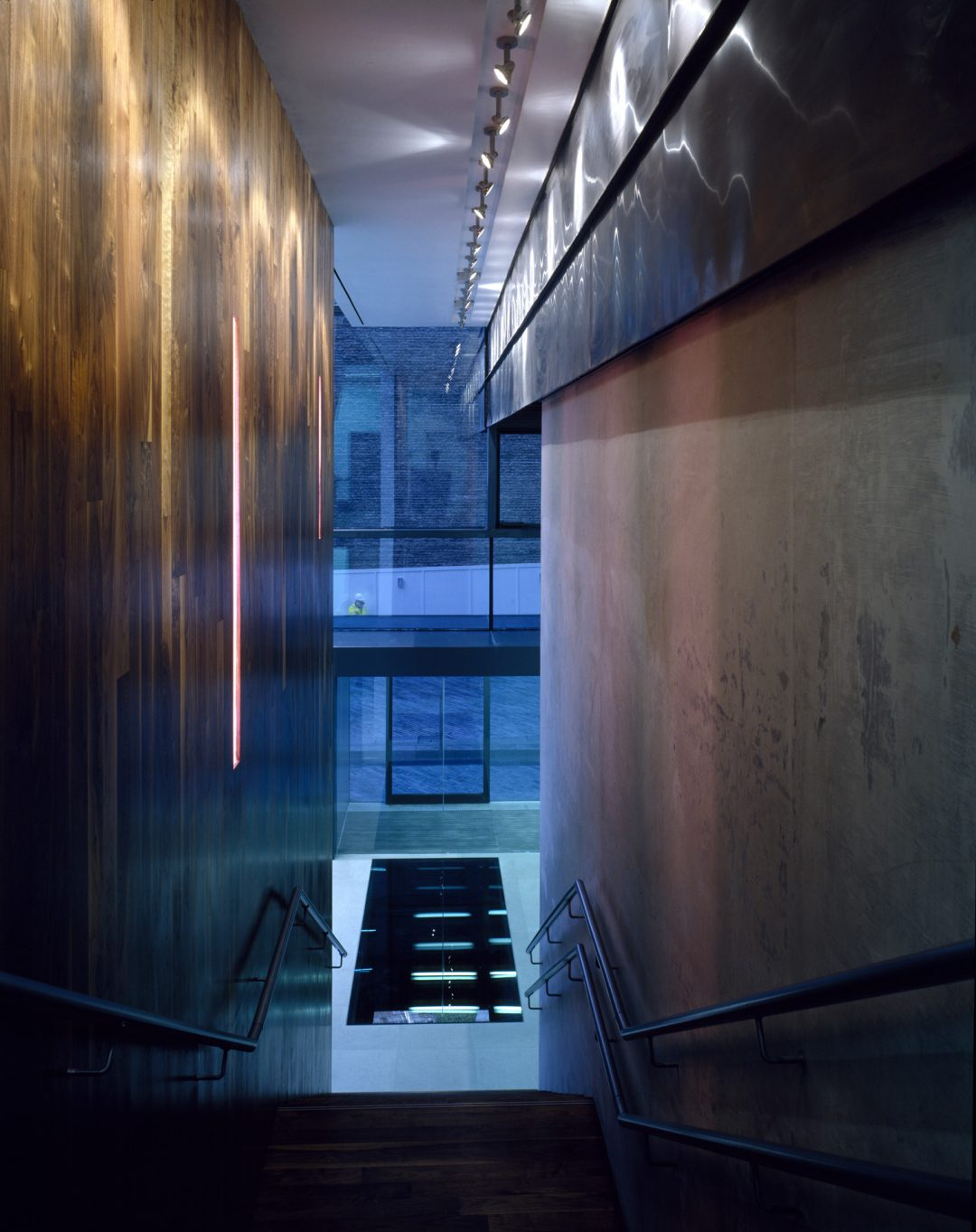 View down the main stair at the Unicorn Theatre