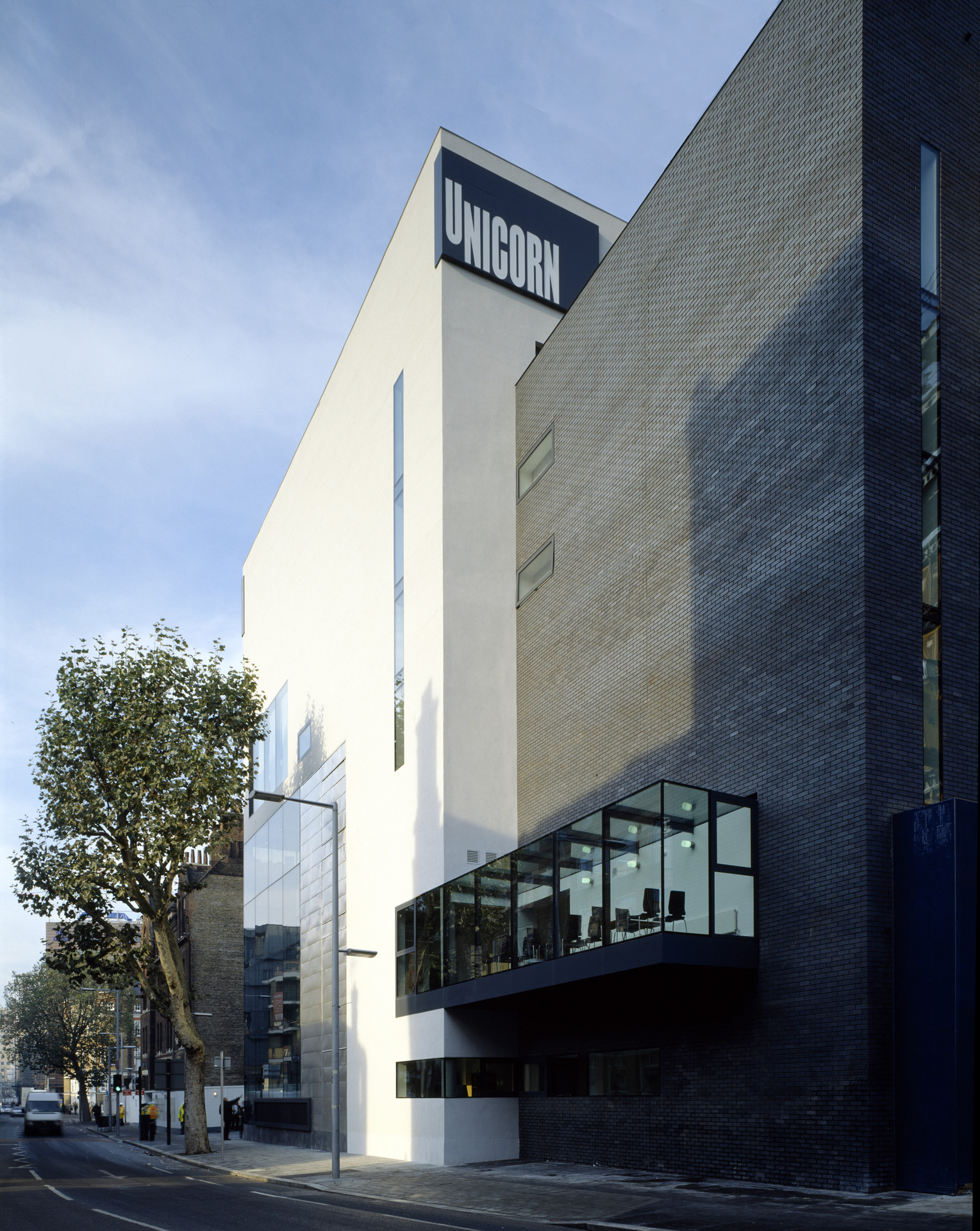 Exterior view of the Green Room at the Unicorn Theatre on Tooley Street by Keith Williams Architects