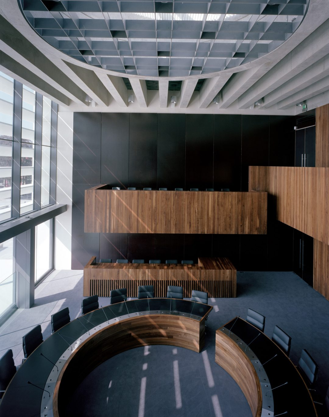 Council chamber and bespoke furniture at Athlone Civic Centre