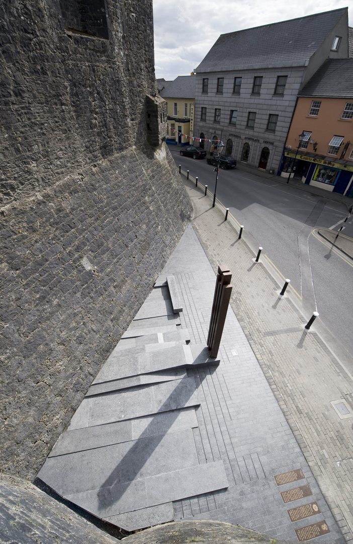 Athlone Army Memorial, looking down from Athlone Castle walls
