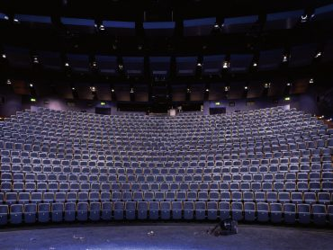 Remodelled main auditorium from the main stage at the Birmingham Repertory Theatre