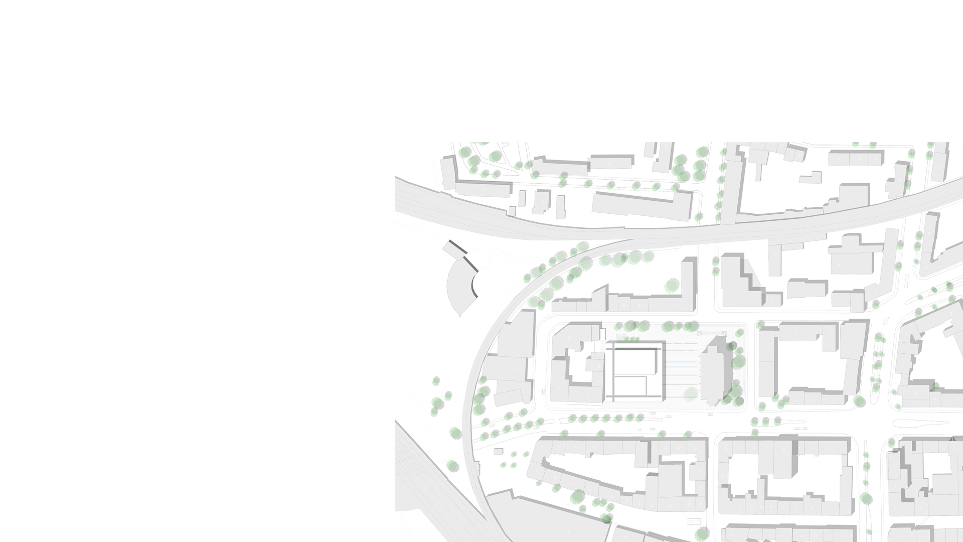 Musikzentrum Bochum shown in context with the city plan.