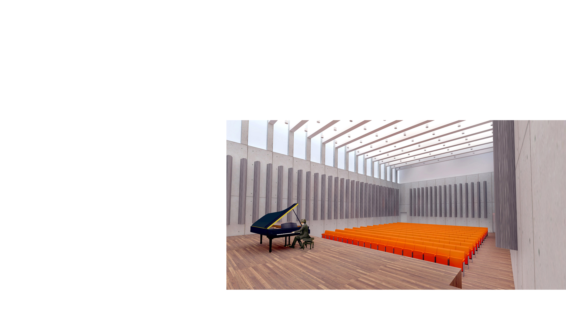 Toplit Recital Room at the Musikzentrum Bochum by Keith Williams Architects