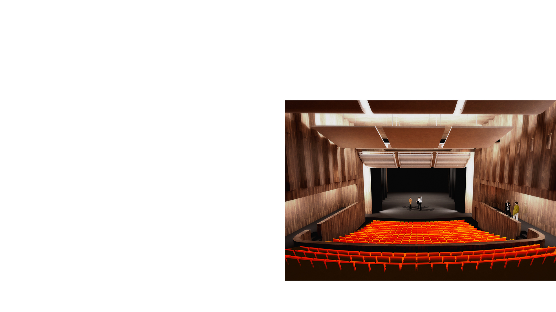3D composite render of the 400 seat theatre at the Karlsruhe Staatstheater