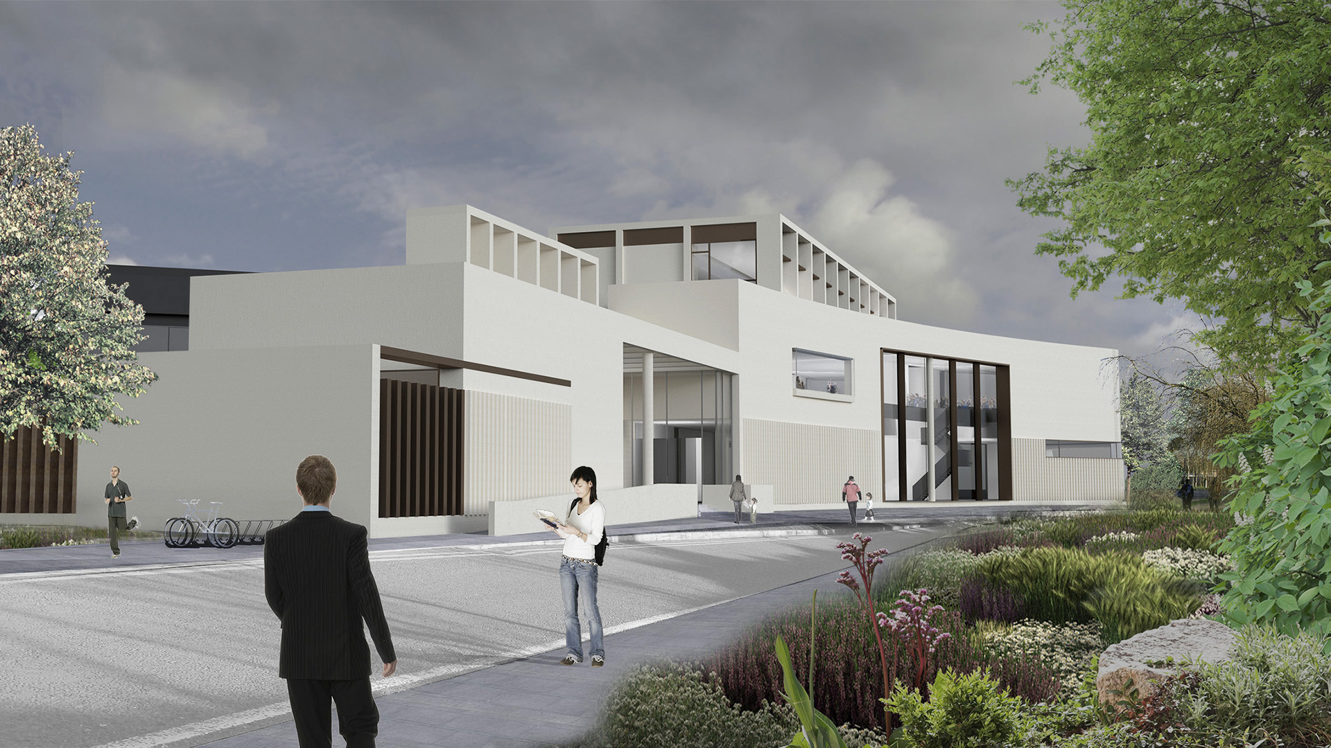 3D composite render of Clare County Library & Art Gallery Ireland from North West