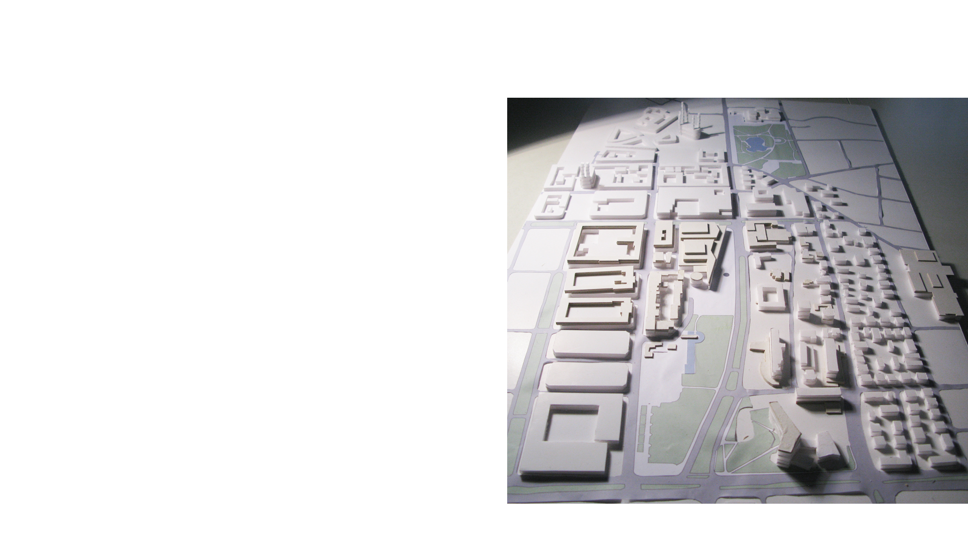 Context model of the city centre and proposed Rhein Main Hallen Conference and Exhibition Centre Wiesbaden Germany