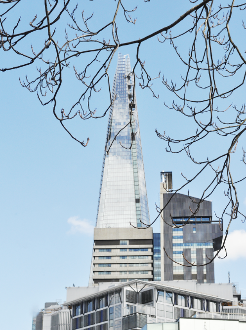 The Shard viewed from Keith Williams' studio