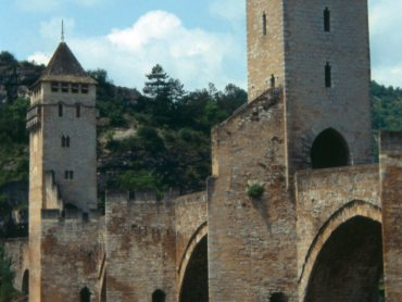 Historic Pont Valentré Cahors France within Keith Williams' urban masterplan for Cahors France