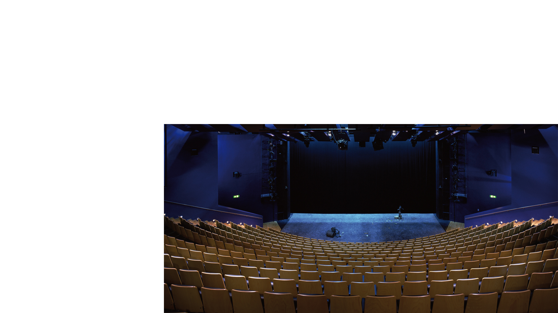 Remodelled main auditorium toward the main stage at the Birmingham Repertory Theatre
