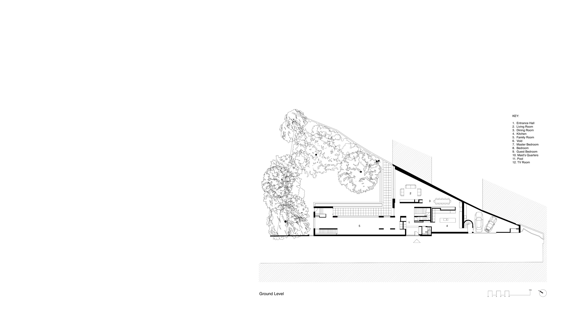 Ground plan of the Long House London