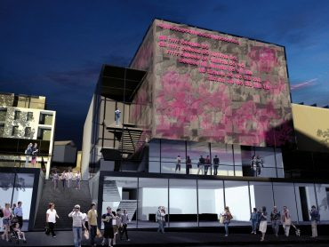 Composite rendering of the new Molde Theatre & Jazzhouse, Molde, Norway