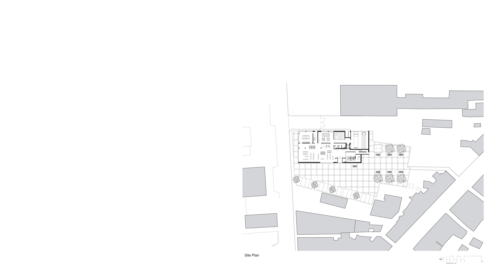 Site plan Clones Library and County Library HQ, Clones, Ireland