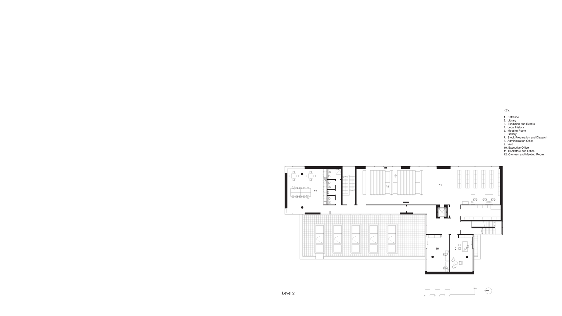 Second Floor Plan Clones Library and County Library HQ, Clones, Ireland