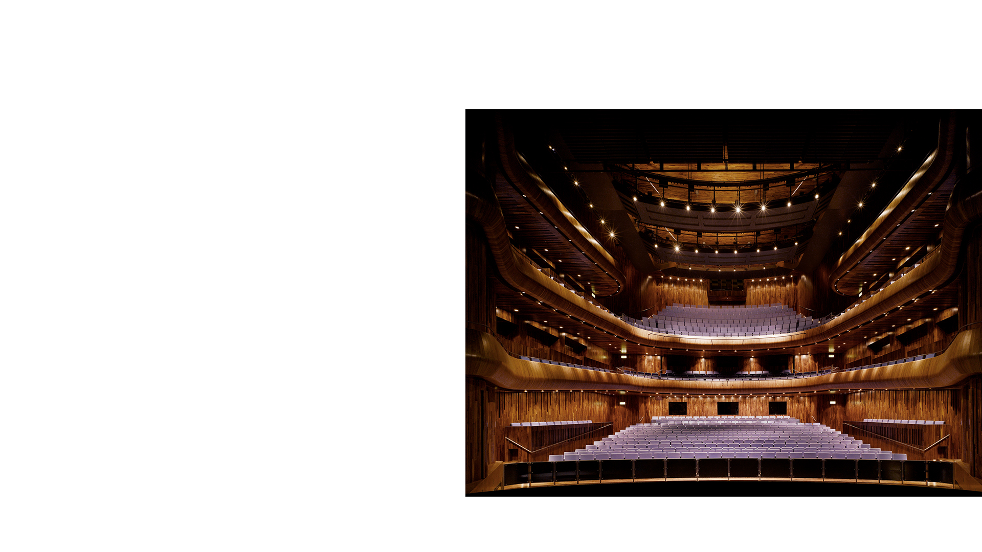 O'Reilly Theatre at the National Opera House Wexford Ireland.One of the great small opera houses of the world.