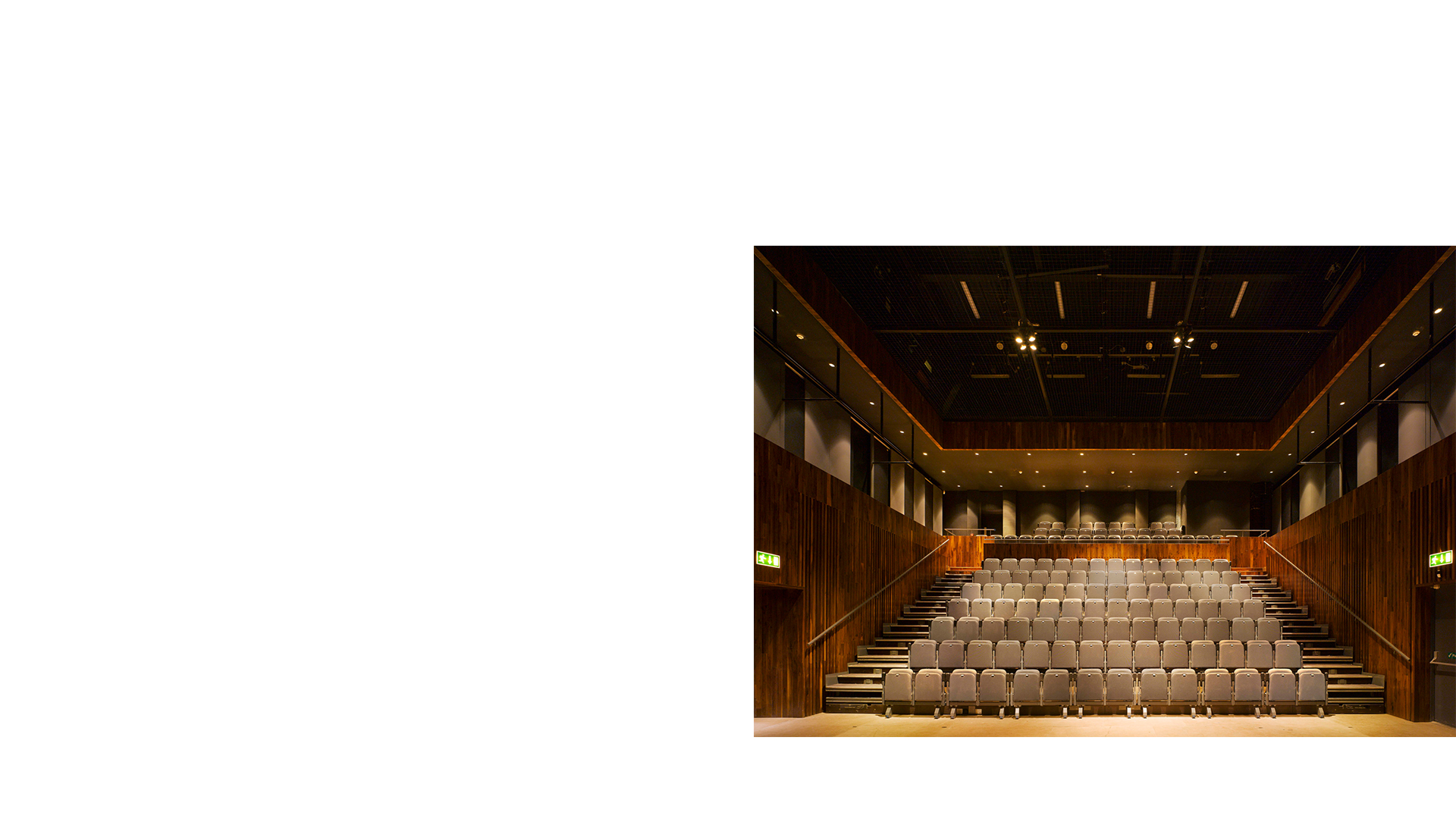 The Jerome Hands Theatre with seats deployed National Opera House Wexford Ireland. One of the great small opera houses of the world.