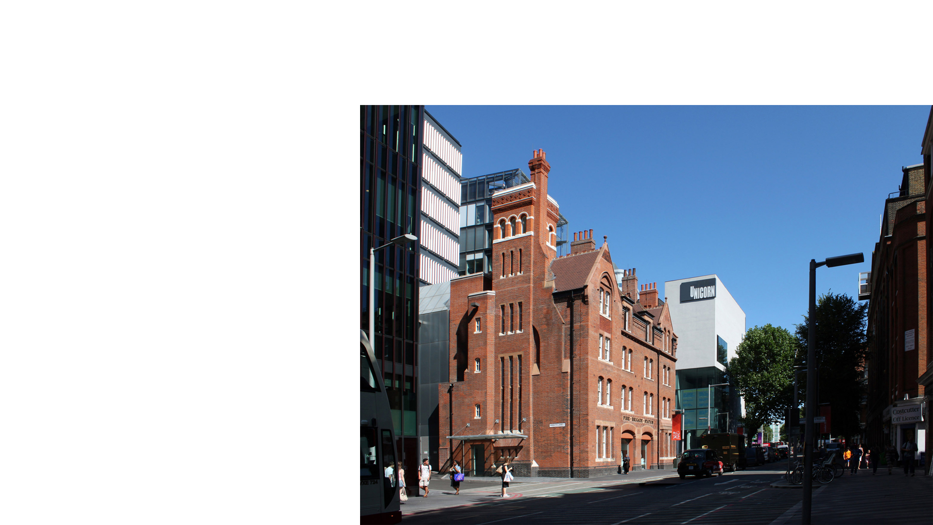 Restored former Tooley Street Fire Station with Unicorn Theatre