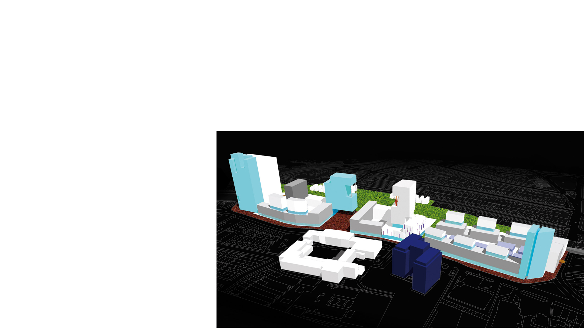 3D conceptual model of masterplan for High Road Wembley
