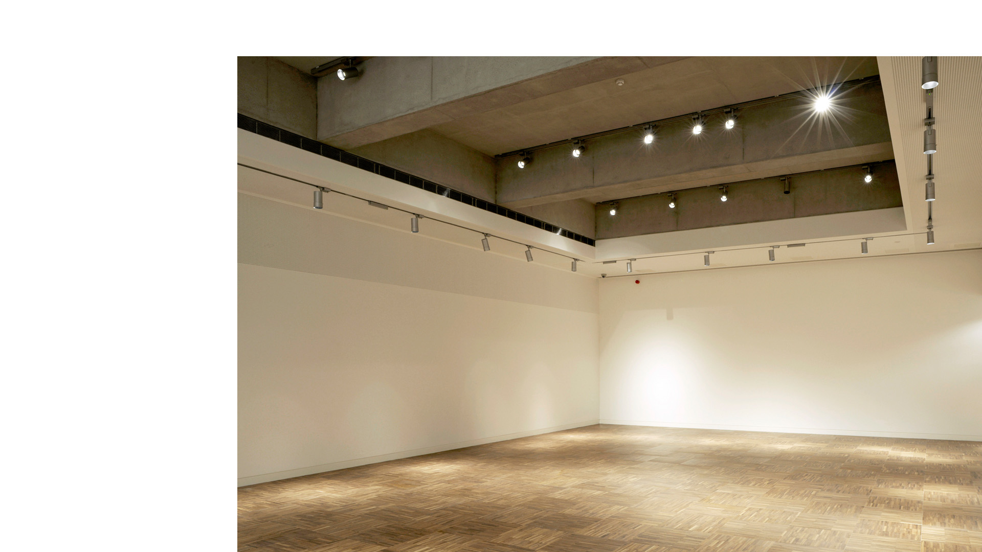 Interior of the Novium's top floor gallery before exhibition fit out