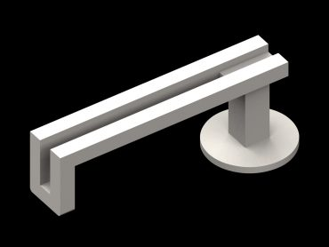 Stainless Steel Return Lever handle from the Parallel Range.
