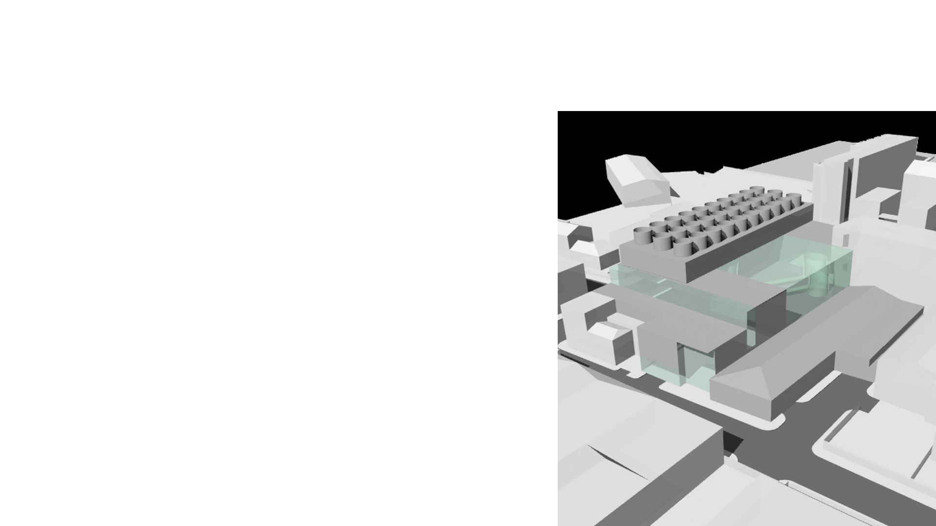Massing Study for Sculpture Building for the Royal College of Art, Battersea Campus