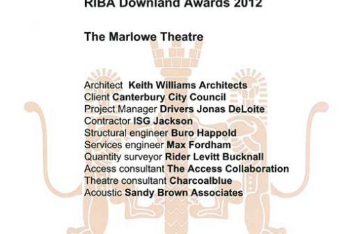 Marlowe Theatre RIBA Award