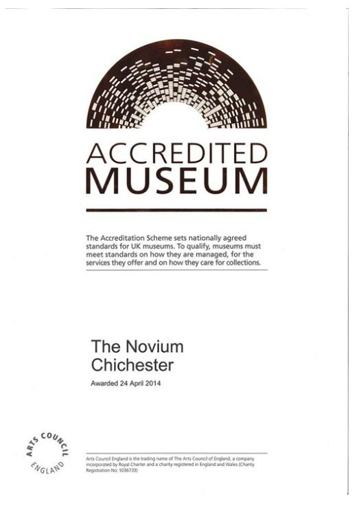 Novium Museum National Accreditation