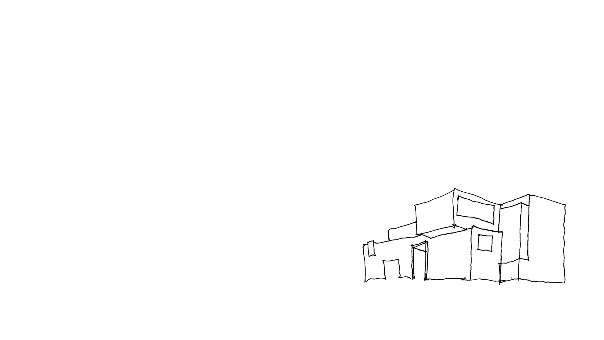Keith Williams' concept sketch Clones Library and County Library HQ