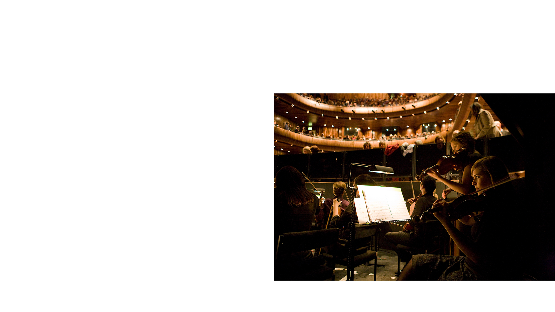 Musicians in the Orchestra Pit at the National Opera House Wexford Ireland