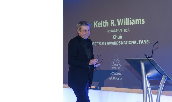 Keith Williams takes the stage at 59th Civic Trust Awards
