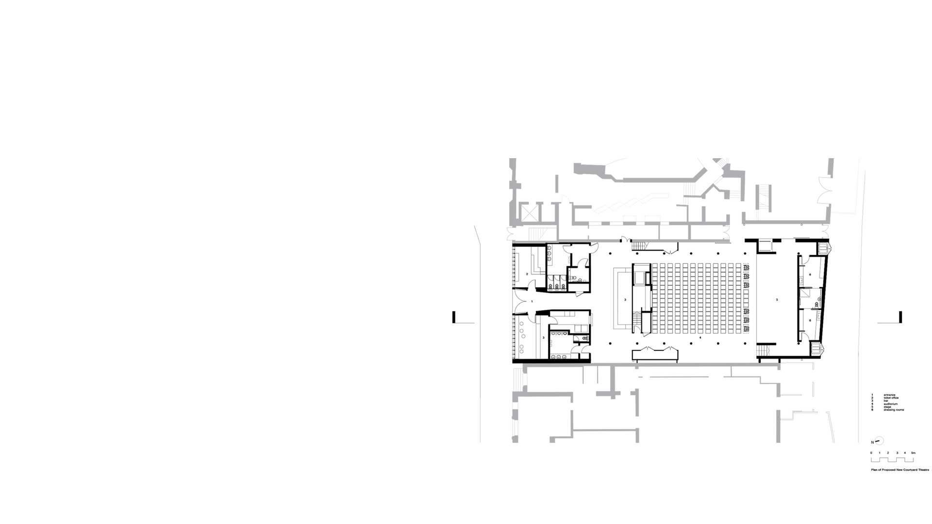 Plan of proposed temporary theatre at the Wolverhampton Grand