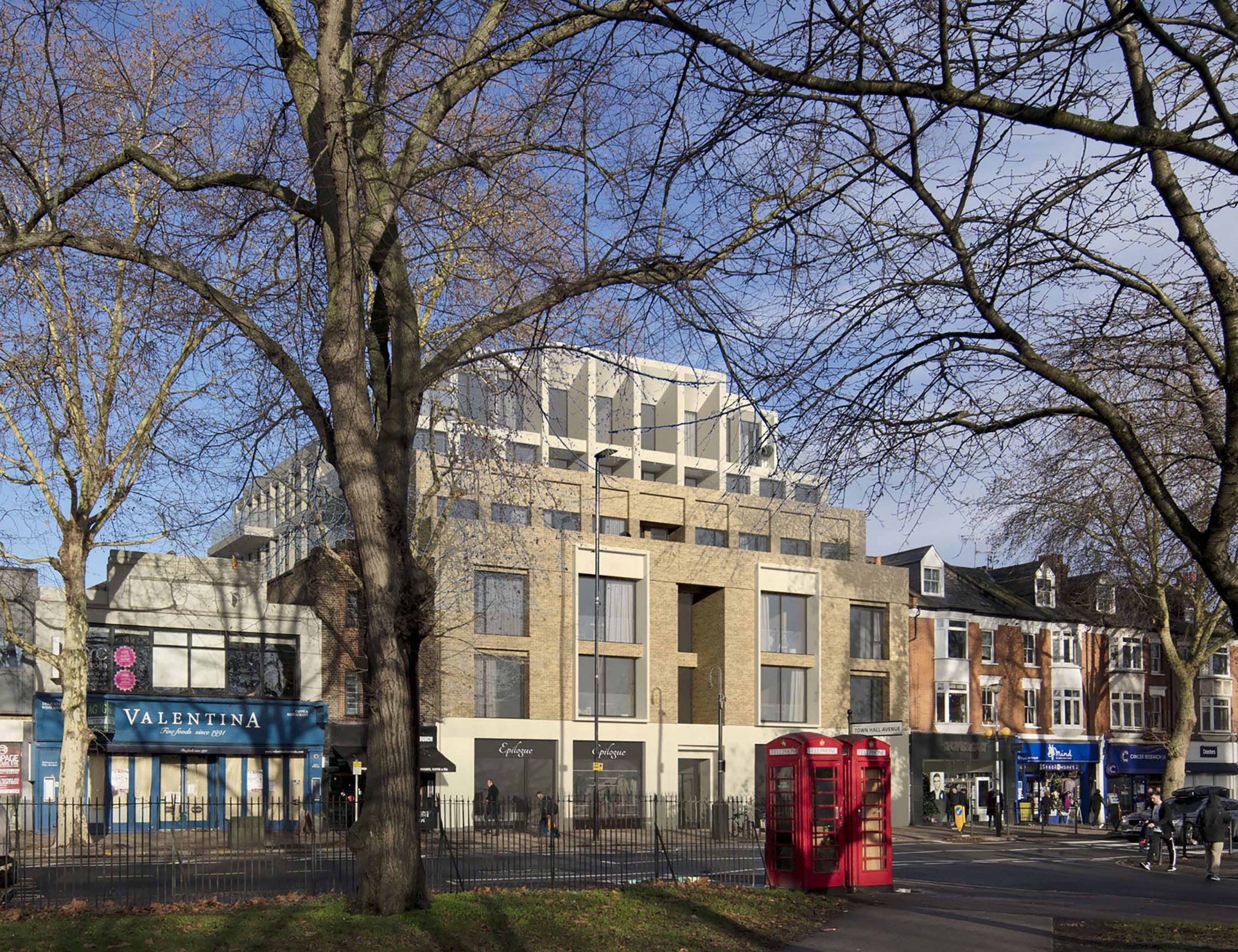 new apartment building by Keith Williams Architect at Turnham Green West London
